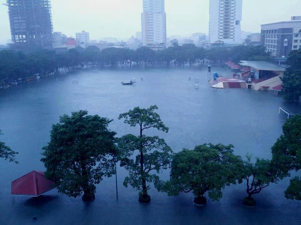 UST Grounds flood