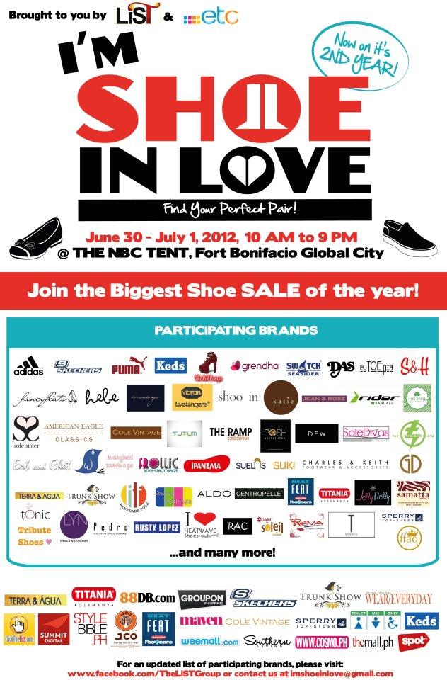 BIG SALE - I m Shoe In Love bazaar at NBC Tent: June 30 July 1